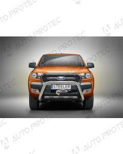 STEELER přední ochranný nerezový rám typ D - Ford Ranger 12-19