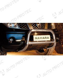 STEELER přední ochranný nerezový rám typ C – Nissan Navara D40 2.5