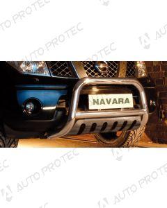STEELER přední ochranný nerezový rám typ B – Nissan Navara D40 2.5