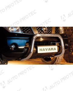 STEELER přední ochranný nerezový rám typ D – Nissan Navara D40 2.5