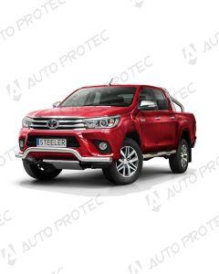 STEELER přední ochranný nerezový rám typ G – Toyota Hilux