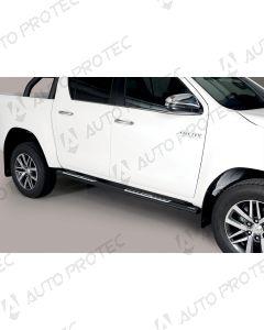 MISUTONIDA boční nášlapy černé - design Toyota Hilux