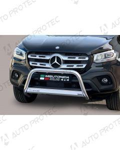 MISUTONIDA přední ochranný nerezový rám Mercedes-Benz X-Class 63 mm