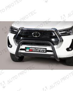 MISUTONIDA přední ochranný černý rám Toyota Hilux 63 mm 2020-