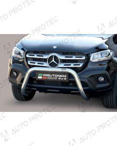 MISUTONIDA přední ochranný nerezový rám Mercedes-Benz X-Class 76 mm