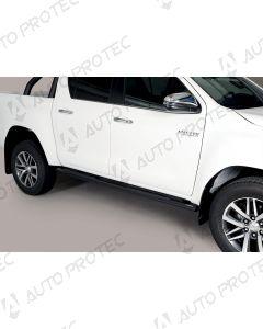MISUTONIDA boční černé nášlapy - oválné Toyota Hilux