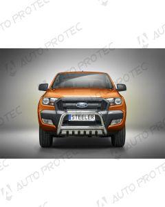 STEELER přední ochranný nerezový rám typ B - Ford Ranger