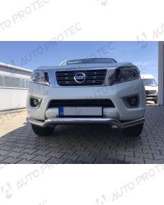 STEELER přední ochranný nerezový rám typ F – Nissan Navara